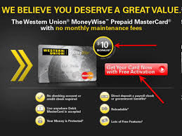 prepaid cards with direct deposit western union prepaid card 10 bonus with direct deposit