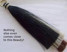 Shoo Hair real hair shoo fly girth tassel 3 layers massively thick brass