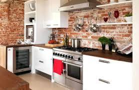 brick backsplashes for kitchens brick backsplash kitchen real white kitchen with brick