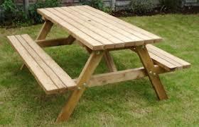 Emily Garden Bench Heavy Duty Wooden Britannia 6 Seater Picnic Table Bench Outdoor