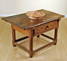 spanish baroque chestnut table colonial arts