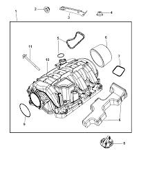 Dodge Challenger Drawing - intake manifold for 2010 dodge challenger mopar parts giant