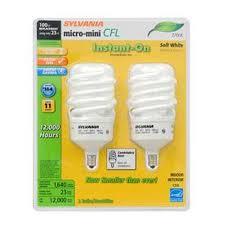 100w cfl light bulbs 26906 cf23el micro c 827 bl2 emergency lighting