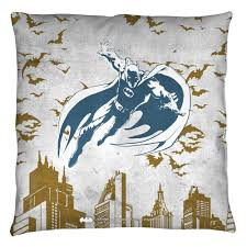 batman custom city vibe throw pillow spun polyester light weight