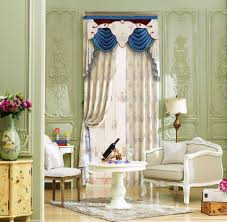 2017 european luxury window blackout curtain for living room