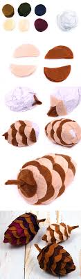 felt pine cone craft tutorial