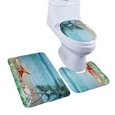 Bathroom Rug Sets 3 Piece by Amazon Com Jillban 3 Piece Bathroom Rug Set Non Slip Bath Mat