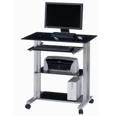 Office Depot Glass Computer Desk by Computer Desk Laptop Table Glass Top Wood Metal Frame Home Office