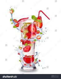 drink splash strawberry mojito drink splash isolated on stock photo 98923364