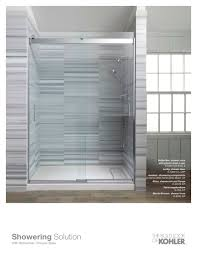 Kohler Frameless Shower Doors by Bathroom Kohler Levity Shower Door With Casement Windows And