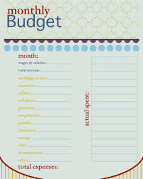 household budget sheet template and how to live on a bud monthly
