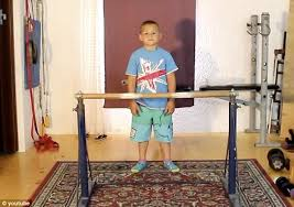 Bed For 5 Year Old Boy Is Giuliano Stroe The World U0027s Strongest Nine Year Old Daily Mail