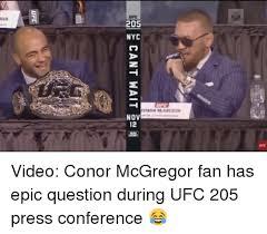 Memes Nyc - man 205 nyc nov video conor mcgregor fan has epic question during