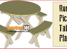Picnic Table Plans Free Pdf by Find Your Next Diy Project At Construct101
