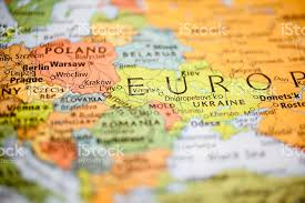 map of eastern european countries nations map of eastern european countries warsaw poland stock