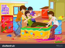 easy edit vector illustration boys enjoying stock vector 251202007