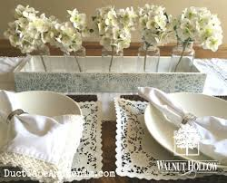 rustic wood ledge lacy wedding centerpiece walnuthollowcrafts