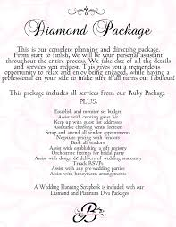 wedding planner pricing bri s event planning our wedding packages