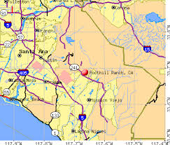 foothill cus map foothill ranch california ca 92610 profile population maps