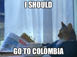 Colombia Meme - i should buy a boat cat meme imgflip