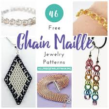necklace link patterns images 46 free chain maille jewelry patterns png