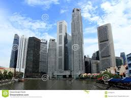modern buildings at singapore river side editorial photo image