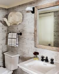 wallpapered bathrooms ideas rustic bathroom design with vintage gray reclaimed wood wallpaper