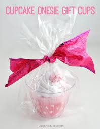 diy baby gifts cupcake onesie gift cups homemade baby shower presents and creative