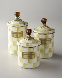 mackenzie childs l mackenzie childs parchment check canisters
