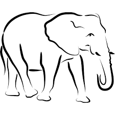 outline of a elephant free download clip art free clip art