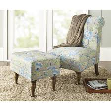 Blue Chairs For Living Room by 10 Spring Street Preston Floral Chair Blue Walmart Com
