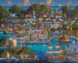 United States Virgin Islands Map by Ep 13 St Thomas Painting The Town