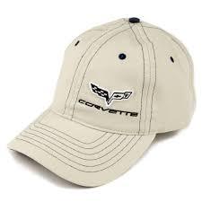 Corvette Flags C6 Flags Side Logo Plaid Hat Tan