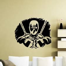 online buy wholesale comic decals from china comic decals wall decals quotes bedroom vinilos paredes deadpool wall decal superheroes vinyl sticker comics art decor home