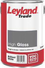 leyland trade interior u0026 exterior brilliant white gloss wood