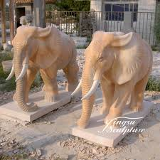 elephant statue garden decoration hand carved stone carving antique elephant statue