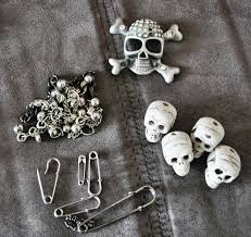 diy punk necklace images Diy punk tom binns style safety pin skull necklace jpg