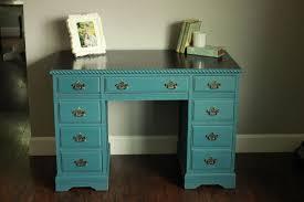 Chalk Paint Desk by Annie Sloan Aubusson Blue Desk Hometalk