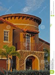 mediterranean house with tower royalty free stock images image