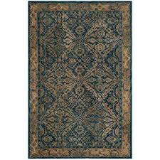 Yellow And Gray Outdoor Rug 4 X 6 Area Rugs Rugs The Home Depot