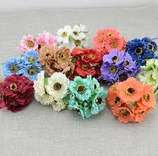 artificial flowers for home decoration 6pcs lot simulation artificial cherry blossom artificial flower