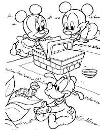 baby mickey mouse coloring free download