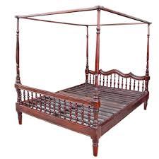 Teak Bed Antique Colonial Burmese Four Poster Teak Bed