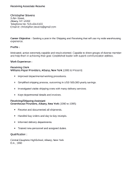Warehouse Clerk Resume Sample by Easy Receiving Associate Resume Template