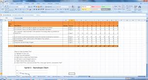 Scrum Excel Spreadsheet Excel Scrum Template Free Excel Project Management Templates
