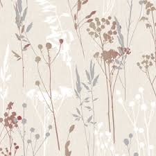 colours hayfield cream u0026 red thistle wallpaper departments diy