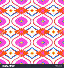 moroccan wrapping paper ethnic pattern bright pink color arabic stock vector 160980758