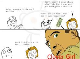 Rage Girl Meme - clever girl rage comic 5 clever girl know your meme