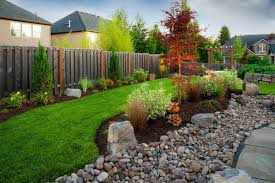 Pebbles And Rocks Garden Install Pebbles And River Stones Beautiful Landscape In The