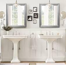 Bathroom Mirror Decorating Ideas Colors Any Color Brushed Nickel Modern Bathroom Mirror Framed